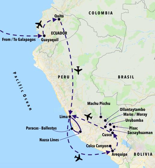Galapagos-Peru-Map-Official - Peru Summit Adventures