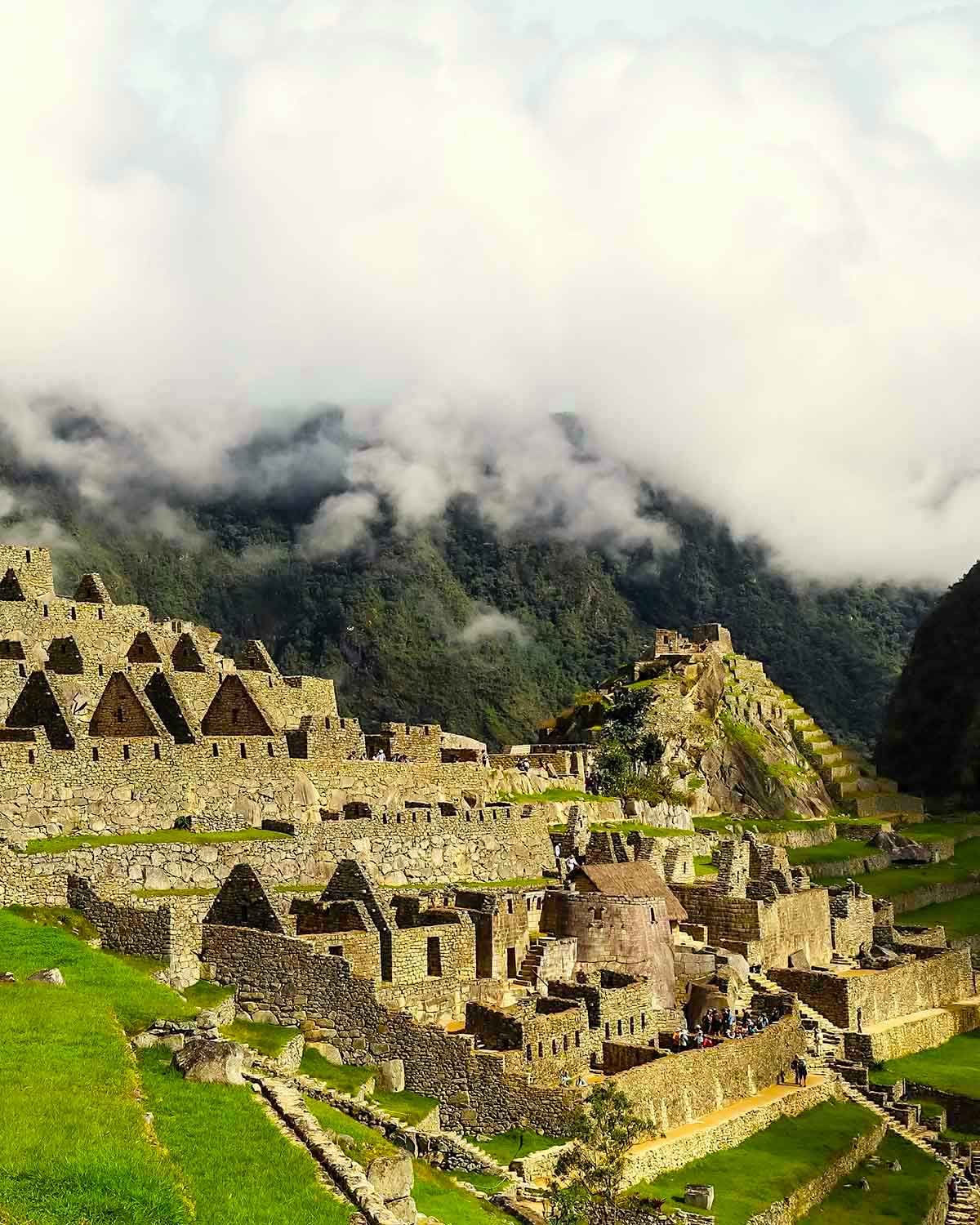 Machu Picchu during sunrise